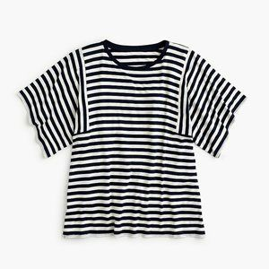 J Crew Blouse Top Small Striped Wide Sleeve Tee T-
